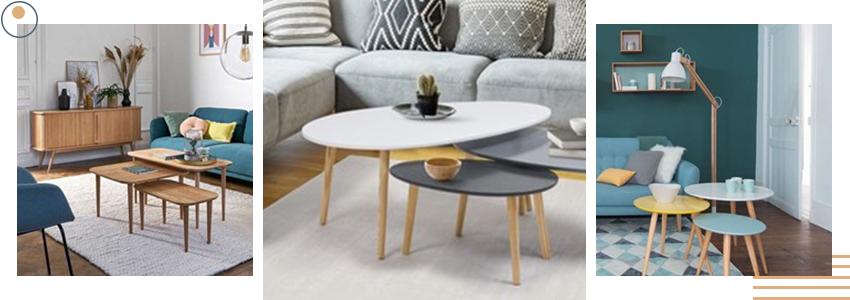 tables gigognes pour aménagement salon
