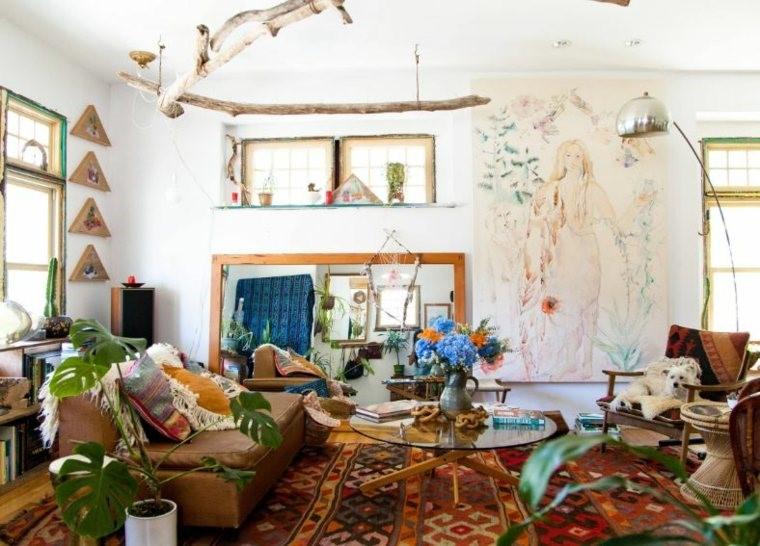 salon-deco-boheme-et-meubles-vintage