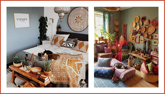 decoration-murale-chambre-en-couleurs-chaudes