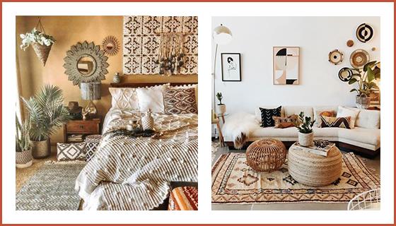 interieur-deco-boheme-ambiance-avec-des-couleurs-chaudes