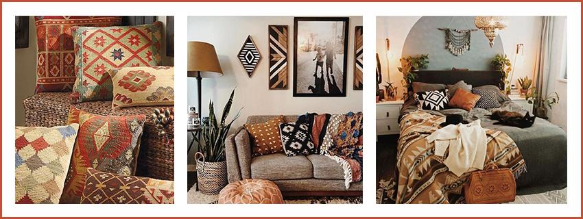 interieur-deco-boheme-avec-des-coussins-motifs-ethniques