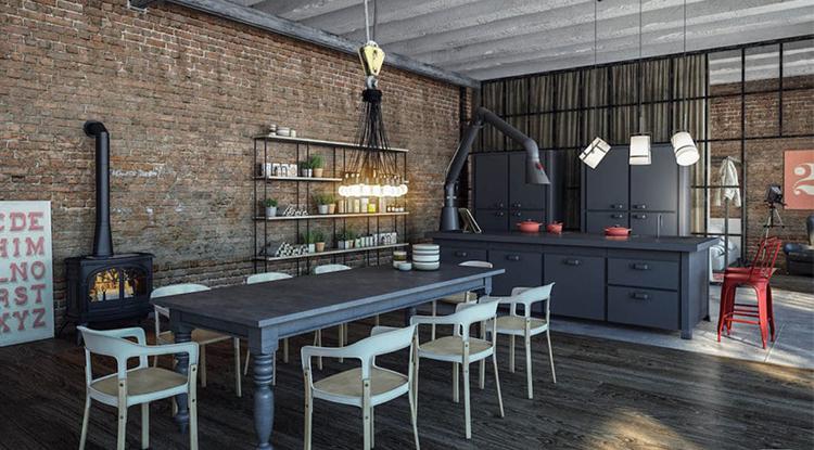 metallic-furniture-in-industrial-style-kitchen