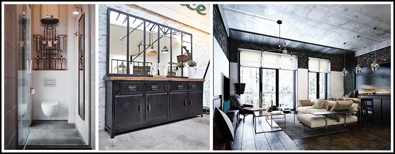 interieur-style-industriel-decorer-avec-des-structures-metalliques-et-sol-en-beton