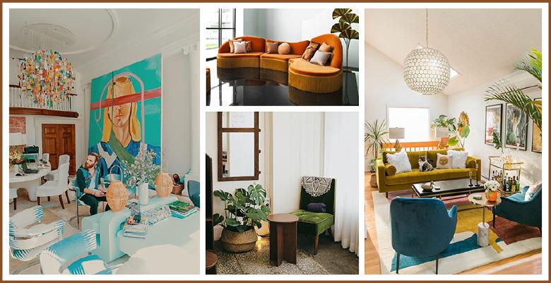 des-interieurs-deco-vintage-avec-des-meubles-colores